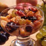 Salade de fruits d'automne au sésame