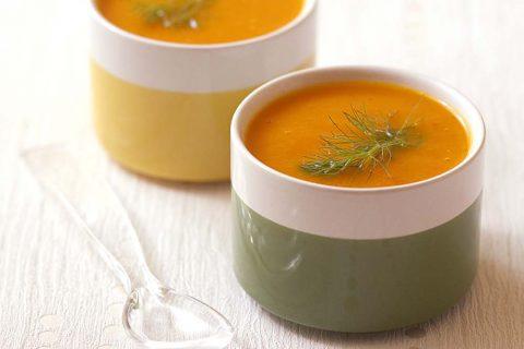 Soupe toute orange au potiron et carotte