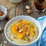 Porridge d'avoine à l'orange et à la cannelle
