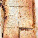 Gâteau tendre au chocolat blanc et à la châtaigne