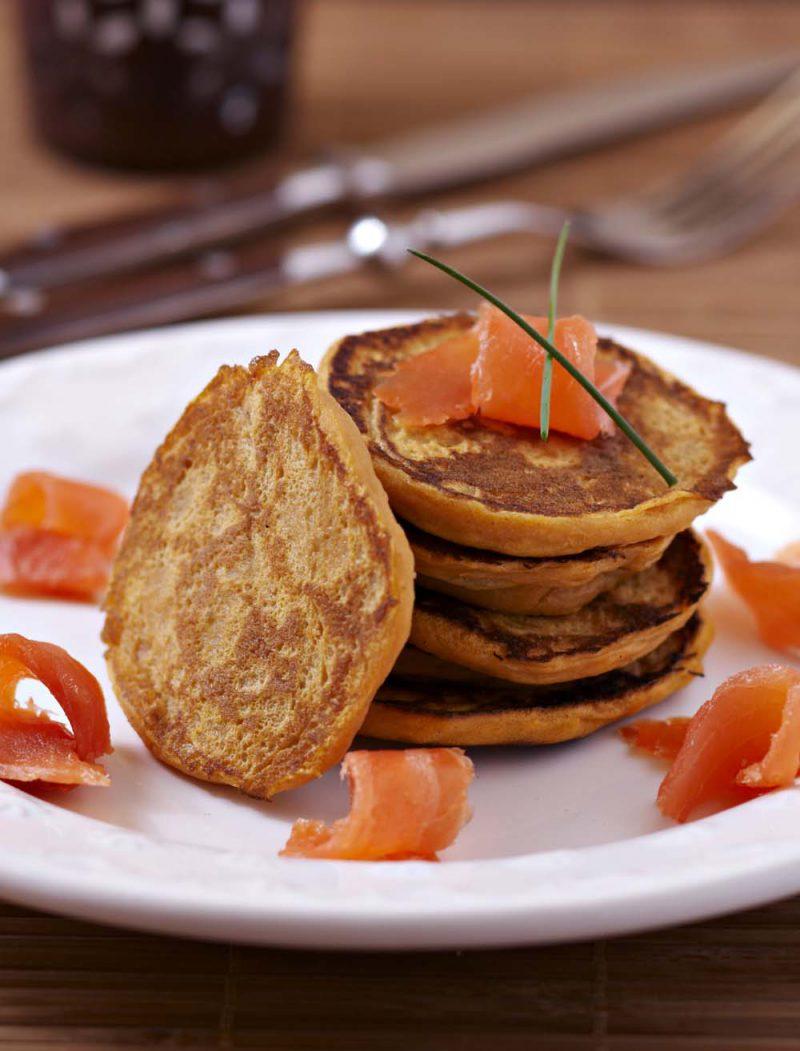 Blinis délicieux à la patate douce