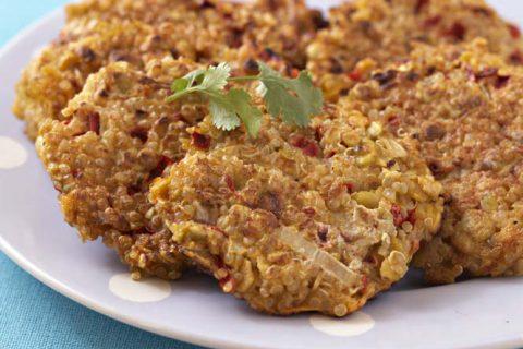 Galettes sublimes de quinoa au poivron rouge