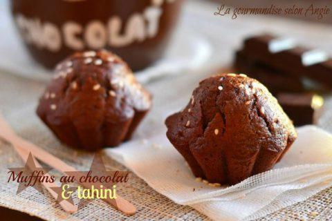 Muffins chocolat et tahini