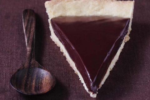Tarte exquise ganache au chocolat noir