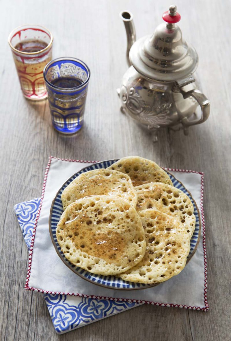 Mkhanfar – crêpes berbères moelleuses