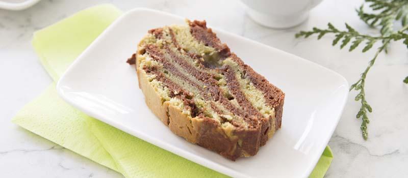 Recette cake marbré chocolat matcha