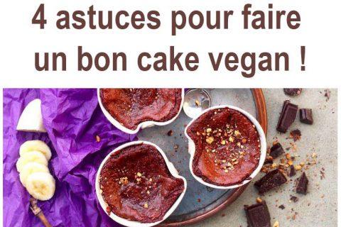 4 astuces pour faire un bon cake vegan