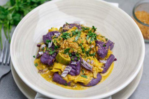 Gnocchis à la patate douce et sauce au curry