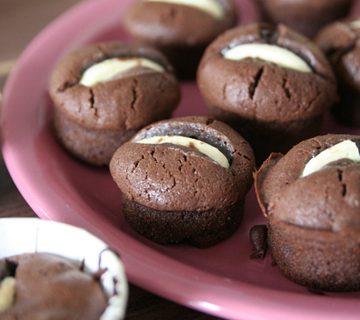 Petits gâteaux délicieux aux 2 chocolats