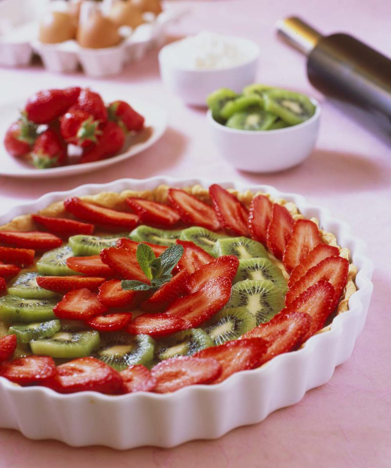 Sublime tarte aux fraises et aux kiwis