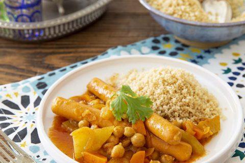 Couscous végétarien aux saucisses