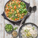 Curry de tofu aux légumes – vegan